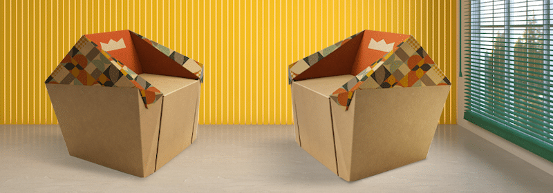 mobili in cartone stampato