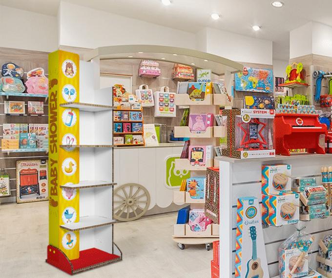 Espositori pubblicitari in negozio per bambini