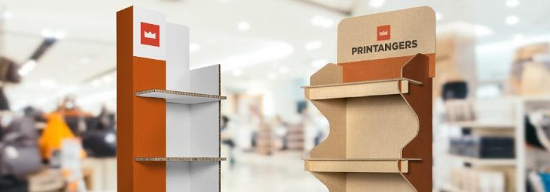 espositori di cartone per negozio