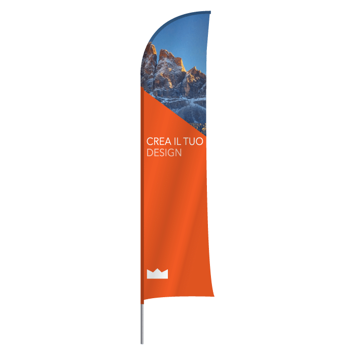 bandiera a vela con struttura
