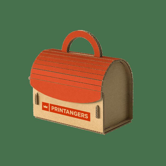 packaging in cartone a forma di bauletto