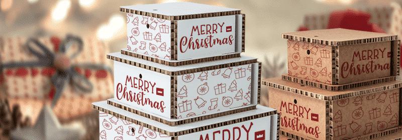 packaging natalizio in cartone