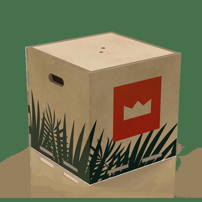 seduta a forma di cubo