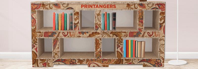 libreria cartone personalizzata