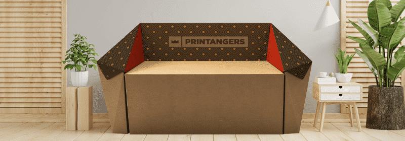 mobili di cartone stampati