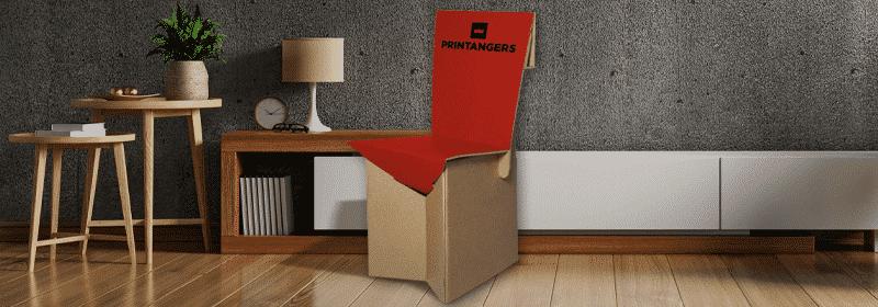 sedia cartone personalizzata