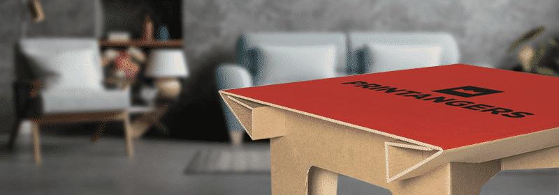 tavolo di cartone personalizzato