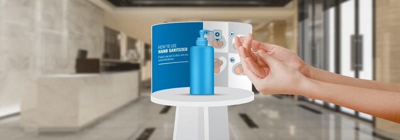 colonna igienizzante mani