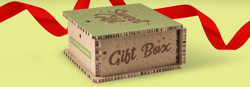 packaging natale in cartone per regalo