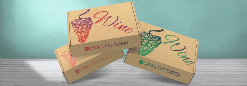scatola portabottiglia di vino in cartone